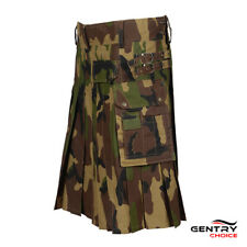 Utility Kilt Camouflage Army Green Scotland Sports Kilt
