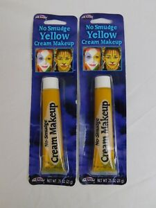 Halloween Cosplay Stage Makeup - Yellow Cream Makeup 1.5 oz Clown, Tiger #7422