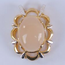 925 silver plated gold ,white color quality moonstone  pendant gemstone 100 new