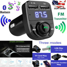Handsfree Car Charger Bluetooth FM Transmitter & Music adapter Dual USB Max 5V