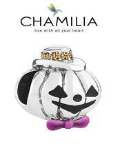 New CHAMILIA 925 silver & Swarovski GENTLEMAN JACK pumpkin charm bead, Halloween