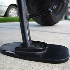Motorcycle kickstand pad support black x1 piece soft ground outdoor parking