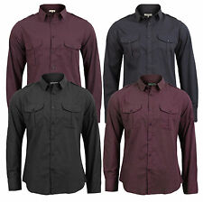 Brave Soul Collared Long Sleeve Casual Shirts & Tops for Men