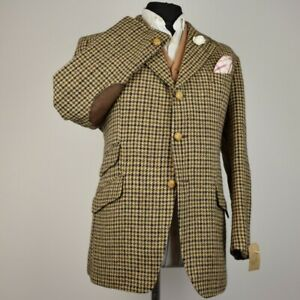 Harris Tweed 1970's Tailored Country Checked Blazer Jacket 42S #989 SUPERB