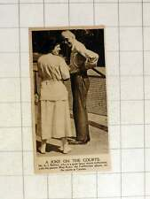 1920 Mr Aj Balfour Lawn Tennis With Partner Mr Ryan Californian Player