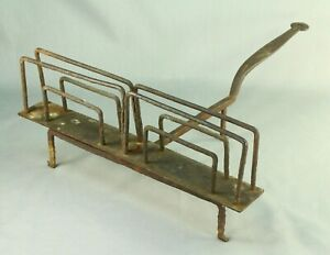 ! Antique 1700's EARLY Wrought Iron Open Fire Bread Slice Toaster, New England