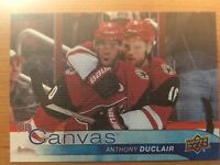 UPPER DECK 2016-2017 SERIES ONE CANVAS ANTHONY DUCLAIR HOCKEY CARD C-5