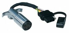 6-ROUND POLE TO 4-PIN FLAT TRAILER LIGHT ADAPTER PLUG W/ DUST COVER NEW*HF