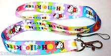 2 X Hello Kitty Sun and Bird Design Lanyard Straps Great Gift **US SELLER**