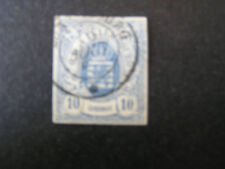 *LUXEMBOURG, SCOTT # 7, 10c. VALUE BLUE FRANKFURT PRINT 1889-64 ISSUE USED