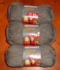 Bernat Softee Chunky Yarn Lot Of 3 Skeins (Taupe Grey  #28048)