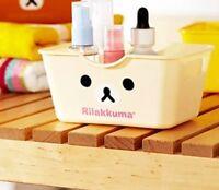 US-1x Cute Rilakkuma Relax Bear Small Desktop Storage Box Pen Remote Control New