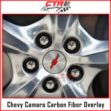 Chevrolet Camaro Wheel Center Cap Rim Overlay Decal Carbon Fiber 2010-2015