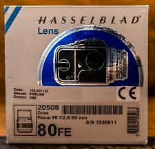 EXCELLENT+ IN BOX | Hasselblad Carl Zeiss Planar FE F2.8 80mm Lens (20508) boxed