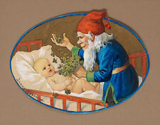 Nystrom Jenny Santa Claus Bringing Luck Print 11 x 14   #3428