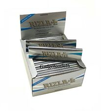 RIZZLA SILVER MICRON THIN KING SIZE SLIM ROLLING PAPER BOOKLET OF 50