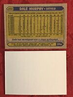 1987 TOPPS DALE MURPHY #490 BASEBALL ERROR CARD BLANK FRONT NRMT-MINT-BRAVES