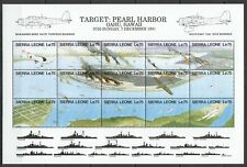 PK232 SIERRA LEONE MILITARY & WAR AVIATION PEARL HARBOR 1SH MNH STAMPS