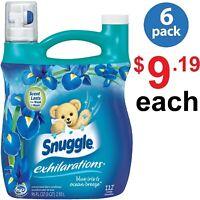 Snuggle Exhilarations Blue Iris Liquid Fabric Softner 96oz 112 Loads (Pack of 6)