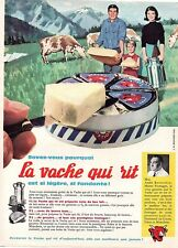▬► Publicité French Print advertising - Fromage - LA VACHE QUI RIT - 1961