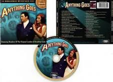 """ANYTHING GOES """"Broadway Musicals"""" (CD) Porter,Merman,Gaxter 2003"""