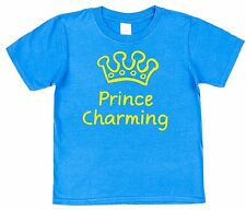 PRINCE CHARMING T-SHIRT Children's Kid's Funny Ages 2-3 to 12-13 years Cute Boys