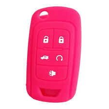 Peachblow Silicone Cover Holder Flip Key Fob Cover fit for Chevrolet 5 buttons