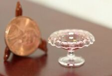 Dollhouse Miniature Artisan Glass Cranberry Turnover Bowl by Philip Grenyer