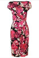 Lk Bennett £175 Nellie Pink Floral Print Shift Dress size 8 Knee length Wedding