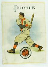 C.1910 Purdue University Baseball Sports Tobacco Silk Vintage Original