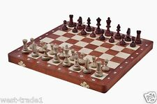Brand New♚ Hand Crafted Luxury Tournament 3 Wooden Chess Set 35cm x 35cm♞