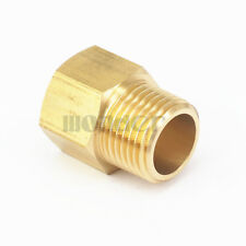 "1/2"" BSPT Male x 1/2"" NPT Female Brass Pipe Fitting Adapter For Pressure Gauge"
