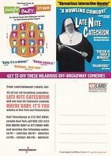 COMEDY PLAYS MAYBE BABY ITS YOU & LATE NITE CATECHISM ADVERTISING POSTCARD