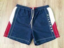 Tommy Hilfiger vintage summer navy big logo swim mens shorts size L