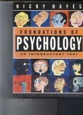 Foundations of Psychology: An Introductory Text,Nicky Hayes