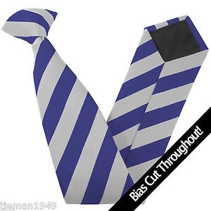 High School Clip On Tie Equal Stripes Block Stripe READ THE LISTING