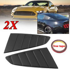 For Ford Mustang 2015-2020 1/4 Quarter Window Louver Side Vent Scoop Cover Matte