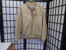Pierre Cardin Beige Zipper Front Jacket Size M   FREE SHIPPING   W246