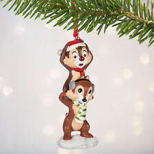 Disney Store Chip n Dale Holiday Christmas Ornament Figure NWT