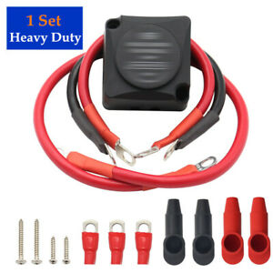 Heavy Duty Dual Auxiliary Battery Isolator Complete Copper Clad Cables Wire Part
