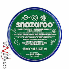 Bright  Green Snazaroo 18ml Face & Body Paint Stage MakeUp Fancy Dress Costume
