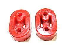 2 PCS Polyurethane Exhaust Muffler Solid Hanger Red Catback Pipe 10MM STIFF NEW
