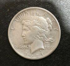 1921 Silver Peace Dollar High Relief Key Date! b6c