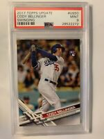 2017 Topps Update Swinging CODY BELLINGER Rookie RC #US50 PSA 9