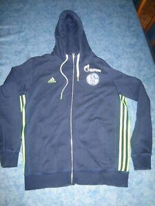 Original Adidas Schalke 04 Hoodie Sweatjacke Gr. L , Gazprom