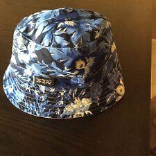 NEW RALPH LAUREN POLO BUCKET/GOLF/RAIN HAT WHITE REVERSIBLE BLUE FLORAL L/  XL