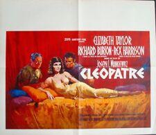 CLEOPATRA Belgian movie poster ELIZABETH TAYLOR REX HARRISON RICHARD BURTON