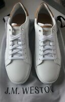 J.M. Weston - Chaussures shoes sneackers luxury white new! Neuf!  6/