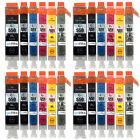 24 Cartucce Di Inchiostro per Canon Pixma iP8750 MG6350 MG7150 MG7550 MX925