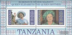 Tanzania Bloque 43 (edición completa) nuevo 1985 La madre del Rey Elisabeth